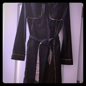 Jason Wu for Target black trench coat w/pink lace